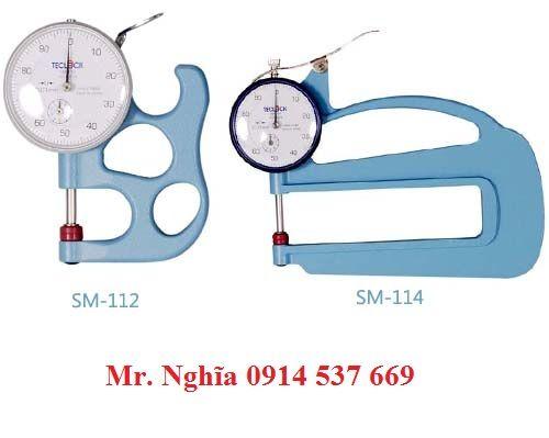 Đồng hồ đo độ dày TECLOCK SM-112, SM-114