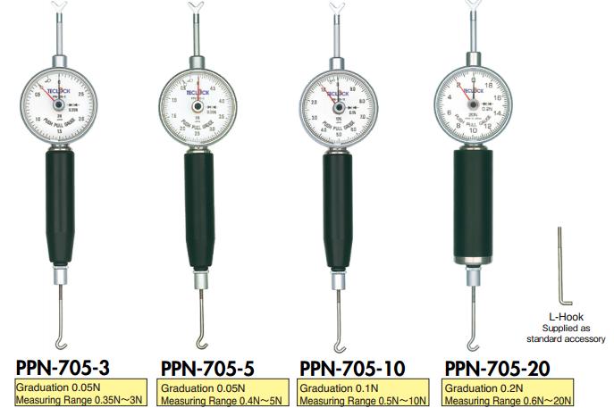 Đồng hồ đo lực căng, lực kéo Teclock